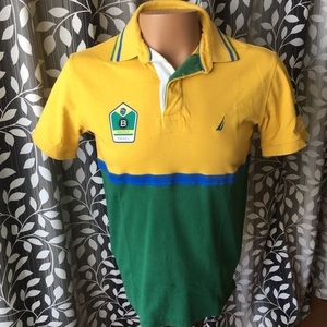 Nautica Color Block Brazil Polo Shirt